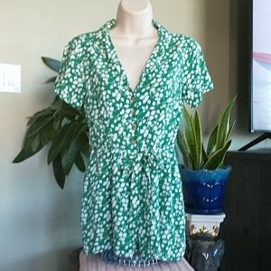Leafy Green Abercrombie & Fitch Romper Size XSP